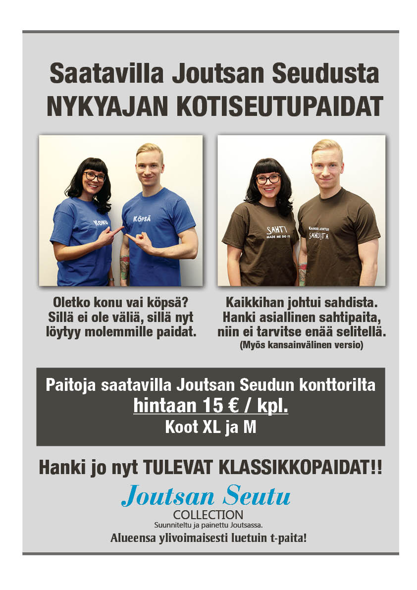 Joutsan Seutu Collection T-paidat!