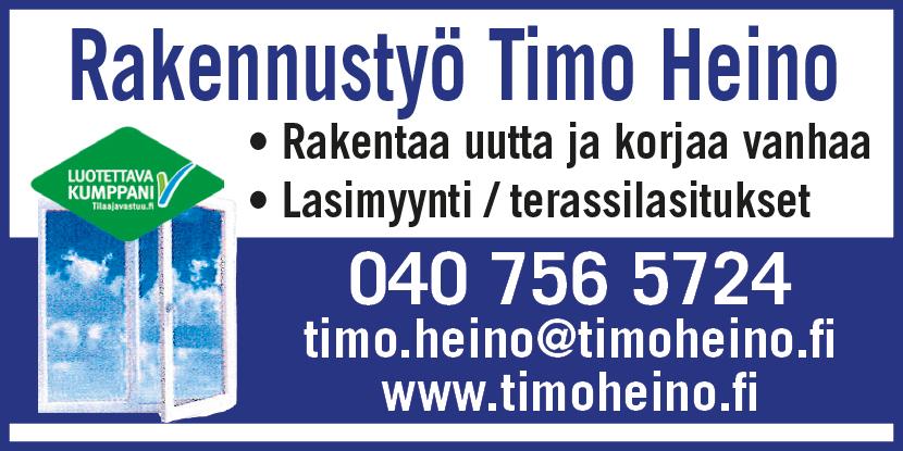 Mainos: Rakennustyö Timo Heino