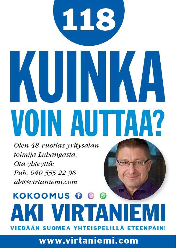 Eduskuntavaaliehdokas Aki Virtaniemi