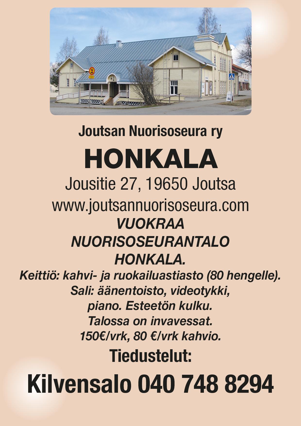 Joutsan Nuorisoseurantalo Honkala